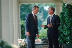 V.P. Dan Quayle with President George H.W. Bush Dan Quayle, Presidents, Suit Jacket, Breast, Suits, Jackets, Photography, Fashion, Down Jackets