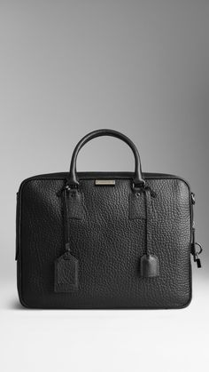 Burberry HERITAGE GRAIN LEATHER BRIEFCASE