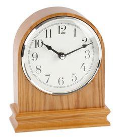 Wood Mantel Clock | ... arched oak finish wood mantle clock clear arabic dial mantel clocks