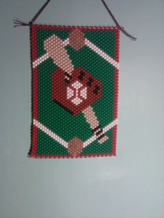 Baseball bead banner by brikraftykreations on Etsy
