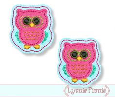 Embroidery Designs - Owl Felt Clippies 4x4 - Welcome to Lynnie Pinnie.com! Instant download and free applique machine embroidery designs in PES, HUS, JEF, DST, EXP, VIP, XXX AND ART formats.