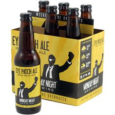 Monday Night Eye Patch IPA - Available Year Round.A crisp, drinkable IPA. The earthy deliciousness of Cascade and Magnum hops, combined with upfront malt flavor, and balanced with a pirate's sensibilities.