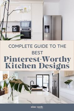 Do you want a Pinterest perfect kitchen? Follow this complete guide for picture-perfect kitchen design ideas. Doesn't matter if you are looking for modern kitchen ideas, small kitchen ideas or anything else. #Kitchen #Design #Ideas Beautiful Kitchen Designs, Beautiful Kitchens, Diy Kitchen Decor, Kitchen Ideas, Home Decor, Building Ideas, Building A House, Design Ideas, Design Inspiration