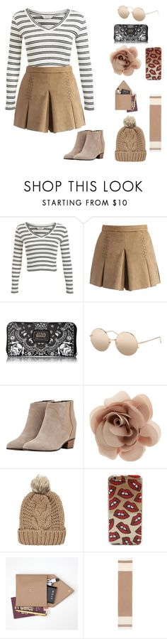 """""""Untitled #13"""" by miuyorkers ❤ liked on Polyvore featuring Miss Selfridge, Chicwish, Loungefly, Linda Farrow, Golden Goose, Accessorize, Chicnova Fashion, STOW and Eileen Fisher"""