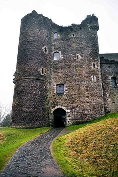 Doune Castle, Scotland. Recent research has shown that Doune Castle was originally built in the thirteenth century, then probably damaged in the Scottish Wars of Independence, before being rebuilt in the late 14th century by Robert Stewart, Duke of Albany (1340–1420), the son of King Robert II of Scotland, and Regent of Scotland from 1388 until his death. By 1800 the castle was ruined, but restoration works were carried out in the 1880s, prior to its passing into state care in the 20th…