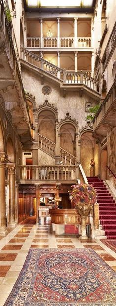 Hotel Danielli in Venice. There are lots of wonderful hotels in Venice, and this is one of them. Palazzo Dandolo Hall at Hotel Danieli in Venice, Italy (by Travelive). Oh The Places You'll Go, Places To Travel, Places To Visit, Beautiful Hotels, Beautiful Places, Amazing Hotels, Amazing Places, Luxury Collection Hotels, Belle Villa