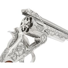 Wyatt Earp's Schofield Colt and Smith and Wesson  got together with Tiffany jewelry in NYC and went nuts silver plating their fire arm