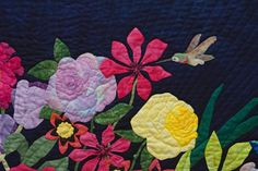 Pinterest Quilt Patterns | Rose Rhapsody In Blue By The Dragonfly Quilting Pattern Picture
