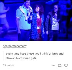 That's because Mean Girls was INSPIRED by Heathers. Also, Mean Girls is becoming a musical. Therefore, Mean Girls really IS trying to be a lighter, worse Heathers. <<< But Mean Girls was based on the parenting book Queen Bees and Wannabes Theatre Nerds, Musical Theatre, Musical Hamilton, Heathers The Musical, Tuck Everlasting, School Of Rock, Dear Evan Hansen, Candy Store, Slushies