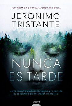 Nunca es tarde es una novela negra, ambientada en el pirineo aragonés, donde la misteriosa desaparición de unas jóvenes parece repetir la investigación sobre unos crímenes que sucedieron en 1973. Un entorno paradisiaco también puede ser el escenario de un crimen horrendo.