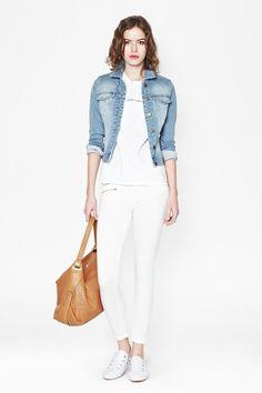 French Connection Evie Spot Denim Jacket April 2014