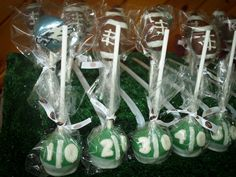 Football cake pops #cakepops #football