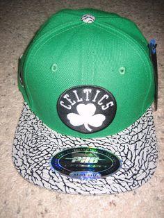 Boston Celtics Mens Hat Cap Basketball Leather Lid