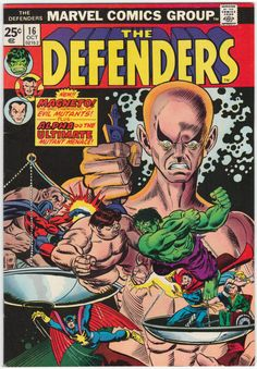 The Defenders #16 NM-, First Alpha, Professor X guests, Magneto appears. Gil Kane cover art. $30
