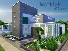 The Sims Resource: Emerald Isle residential house by Chemy • Sims 4 Downloads