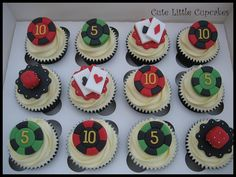 Space Themed Cupcakes | Casino Themed Cupcakes | Flickr - Photo Sharing!