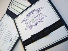Tartan themed invitations: Maybe if we were able to use orange or purple instead of the green this could work.