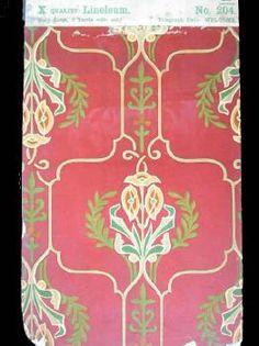 1904-1915 printed Nairn linoleum Linoleum Flooring, Floors, Stenciling, Museum Collection, Vintage Floral, Carpets, Decorating Ideas, Victorian, Interiors