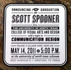 Scott Spooner's Graduation Announcements