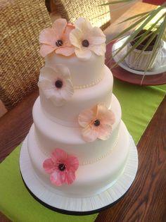 Wedding cake by Jane of Just-A-Cake Folkestone.