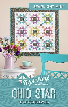 The Doan girls are back for another Triple Play! This week they're stitching up three new designs using the classic Ohio Star quilt block! Follow the link below to watch the free quilting tutorial Triple Play now! #MissouriStarQuiltCo #MSQC #JennyDoan #OhioStar #TriplePlay #TriplePlayOhioStar #QuiltTutorial #QuiltPattern #Quilting #Quilt #HowToQuilt #QuiltBlock #StarAesthetic #CharmPackQuilt #Sewing #FabricCrafts #Makers #MistyDoan #StarQuilt #OhioStarQuilt #BeginnerQuilt Quilting For Beginners, Quilting Tutorials, Craft Tutorials, Quilting Projects, Craft Projects, Sewing Projects, Easy Quilts, Mini Quilts, Layer Cake Quilts