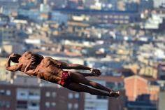 Finales de salto sincronizado en #Barcelona /Adrián Quiroga