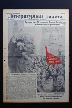 1937.11.05 Literaturnaya Gazeta (Literary Newspaper), front page design by Gustav Klutsis