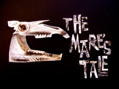 Clive Hicks-Jenkins' poster design for 'The Mare's Tale', a work for chamber orchestra and voice by composer Mark Bowden and librettist Damian Walford Davies, based on the artist's Mari Lwyd series of drawings. Scary Tales, Green Knight, Funky Art, Orchestra, Painting & Drawing, Art Drawings, Puppet Theatre, Assemblages, Graphic Design