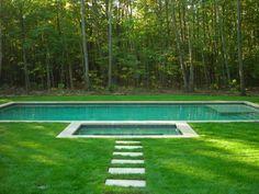 Fabulous  Bilder von Pool im Garten integriert schwimmbecken wald b ume