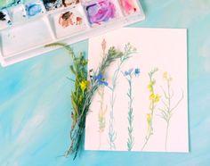 Wildflowers Original Watercolor Painting by Elise Engh