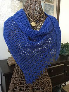 This wrap starts with just a few stitches and grows until you run out of yarn. Size is easily adjusted.