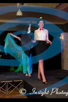 Dressed as Mary Poppins on stage at On stage  for Face of The Globe North East