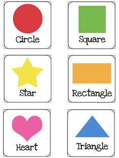 Shapes Flash Cards Printable for Preschoolers