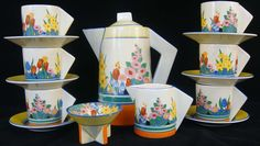 Clarice Cliff was an English ceramic industrial artist active from 1922 to 1963. Cliff was born in Tunstall, Stoke-on-Trent, England