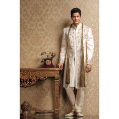 Pastel Moti work Sherwani - Sherwani - Mens wear