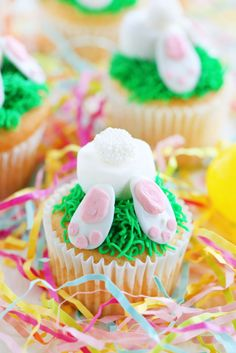 Bunny Bottoms:  With the flavorful addition of lemon extract to the cake mix, these tiny bunny bums are as adorable as they are delicious!