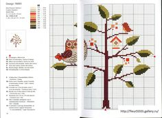 Gallery.ru / Фото #162 - Rico 122, 123, 124, 125, 126, 127 - Fleur55555; Owl in tree