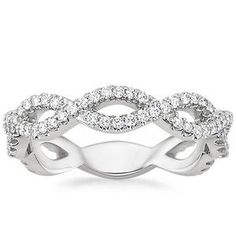 18K White Gold Eternal Twist Diamond Ring