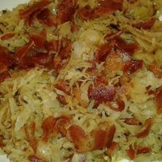Sauerkraut Make and share this Fried Sauerkraut recipe from .Make and share this Fried Sauerkraut recipe from . Sauerkraut Recipes, Cabbage Recipes, Beef Recipes, Cooking Recipes, Healthy Recipes, German Recipes, Cooking Sauerkraut, Bavarian Sauerkraut Recipe, Austrian Recipes