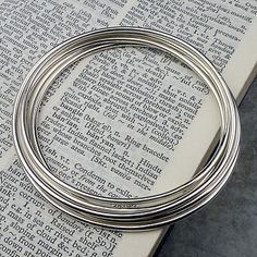 simple silver bangle by hersey silversmiths | notonthehighstreet.com