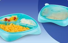 Nuby Section Plate - Love that this has a lid to it becuase does you baby even finish thier food this makes it easy to store for later.