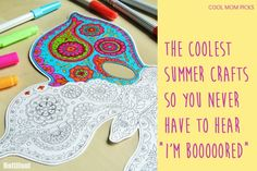"How soon until the first ""I'm bored"" this summer? Exactly. Keep these 13 ideas for fun summer crafts for kids on hand and maybe you can stave it off. Maybe."