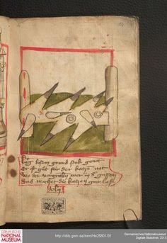 Feuerwerkbuch 1420-25 Hs 25801  Folio 14r