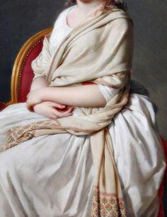 Portrait of Anne-Marie-Louise Thélusson, Detail. by...