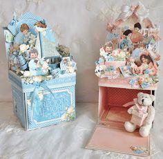 annes papercreations: Graphic 45 Precious Memories Photo box photo album by Anne Rostad