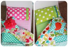 This is doll bedding...but love the idea for a boy and girl sharing a room.