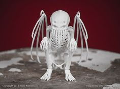 Awesome Cthulhu Idol skeleton 3D printed by Mythic Articulations