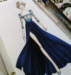How to Draw a Fashionable Dress - Drawing On Demand Dress Design Drawing, Dress Design Sketches, Fashion Design Sketchbook, Fashion Design Drawings, Fashion Model Sketch, Fashion Sketches, Fashion Art, Fashion Models, Fashion Illustration Dresses