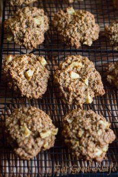 Apple oatmeal cookies- I Baked them and they are so healthy and awesome #eatgood4life