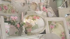 Romantic Inspirational Paintings by, Cindy Ellis Dear Friends, We are excited to announce, the return of our monthly drawing begi. Romantic Cottage, Romantic Roses, Shabby Cottage, Cottage Chic, Beautiful Roses, Romantic Artwork, Romantic Paintings, Beautiful Paintings, Shabby Chic Pink